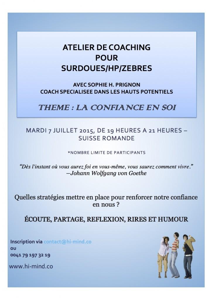 Atelier de coaching Suisse romande